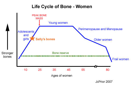 Sally's bone mass